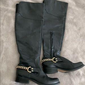 Black Steve Madden leather boots